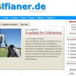 Golfianer - Golf Portal (Quelle: Screenshot golfianer.de)