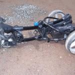 Motocaddy S3 zusammengeklappt