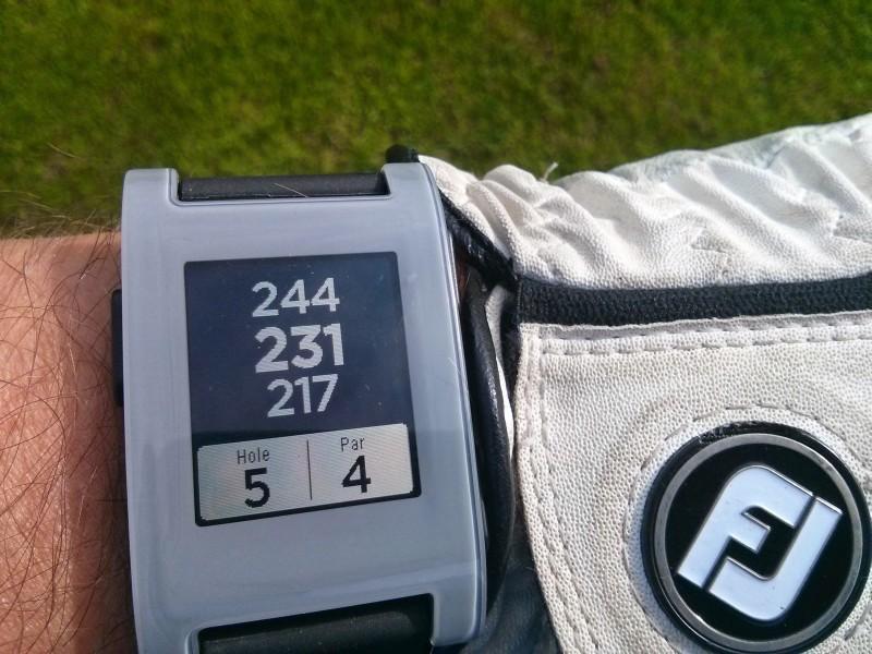 Pebble smartwatch als gps entfernungsmesser mein golf blog