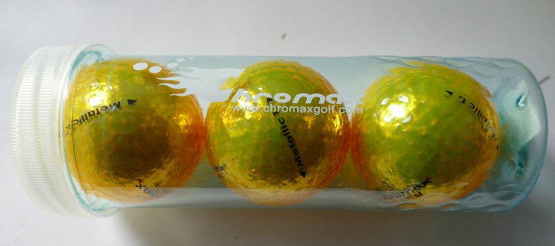 Chromax Golfbälle in der Tube Verpackung