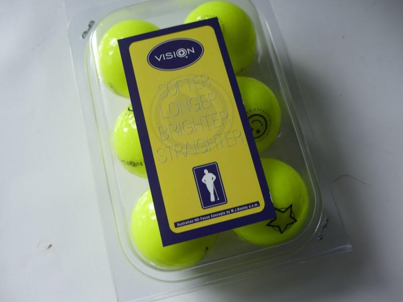 Vision Golfbälle 808 in leuchtendem Gelb